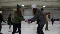 Sam and Ruby ice skate