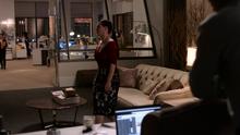 Lena Luthor brings Stilton Pizza to CatCo