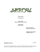 Arrow script title page - Thanksgiving