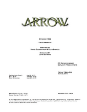 Arrow script title page - The Candidate