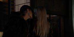 Kate kisses Julia