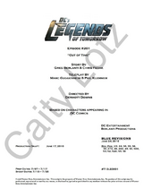 DC's Legends of Tomorrow script title page - Out of Time