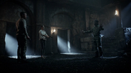 Oliver and Taiana confronts Reiter in the caves