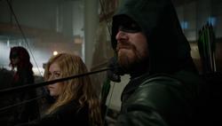 Oliver e Mia antes do ataque dos demônios das sombras