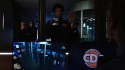 Dinah as an FBI agent