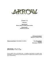 Arrow script title page - Vertigo