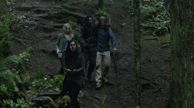 File:Oliver, Sara, Slade and Shado follow the hōzen's coordinates.png