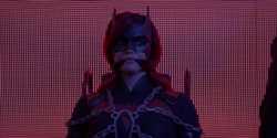 Batwoman restrained