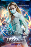 DC's Legends of Tomorrow poster - Real Heroes Wear Masks (Sara Lance)