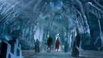 Kara and James arriving inside the Fortress of Solitude
