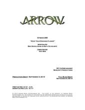 Arrow script title page - Keep Your Enemies Closer
