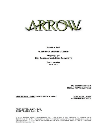 File:Arrow script title page - Keep Your Enemies Closer.png