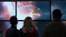 The D.E.O. watching Argo's destruction