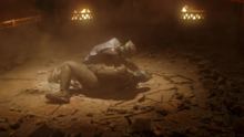 The Martians fight in Roulette's ring