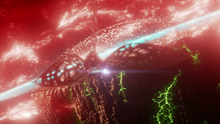 Argo City destroyed by antimatter