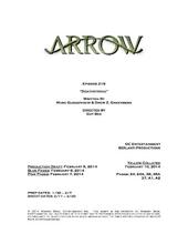 Arrow script title page - Deathstroke