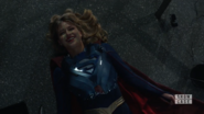 Supergirl's protective suit covers her body