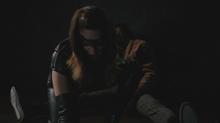 Black Canary defeats Diaz's men
