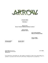 Arrow script title page - Reversal