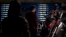 Cisco and Ray discussing ways to fix the Atom suit