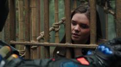 Evelyn imprisoned by Slade