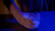 Frosty freezes a glass