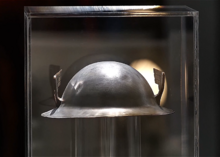 Jay's helmet on display