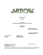 Arrow script title page - Bratva