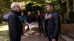 Martin y Jefferson justo antes de fusionarse tras despedirse del Equipo Flash