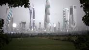 Argo City with fog