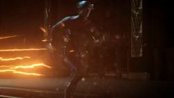 Hunter correndo como Flash