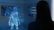 Lena making an anti-kryptonite suit for Kara