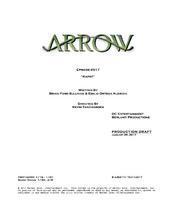 Arrow script title page - Kapot