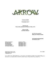 Arrow script title page - Promises Kept