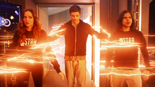 Barry, Caitlin and Cisco train in Flashtime