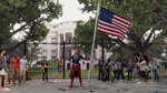 Supergirl in front of White House
