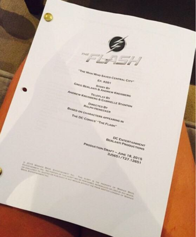 File:The Flash script title page - The Man Who Saved Central City.png