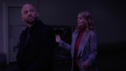 Eve and Lex in Leviathan's warehouse