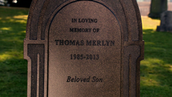 Tommy Merlyn's grave