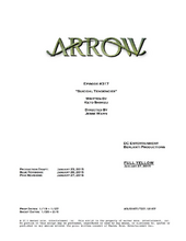 Arrow script title page - Suicidal Tendencies