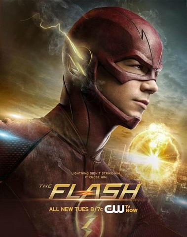 File:The Flash promo poster - Lightning didn't strike him. It chose him..png