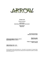 Arrow script title page - Home Invasion
