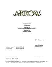 Arrow script title page - The Return