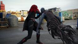 Batwoman lutando
