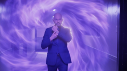 Lex uses his teleportation watch to mock Stryker's inmates