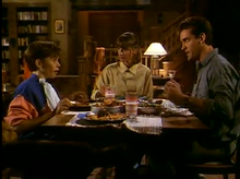 Terry, Tina and Barry eat dinner