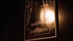 The Matrix's billed crew on a poster