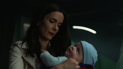 Lois rescues her baby on Earth-16