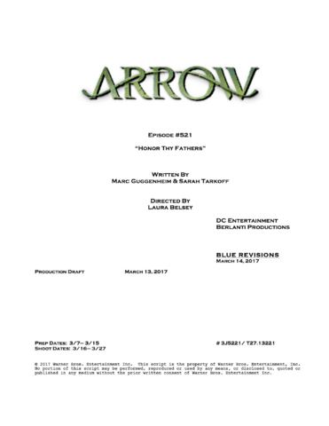 File:Arrow script title page - Honor Thy Fathers.png