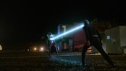 Non uses his heat vision against Kara